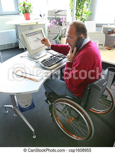 Man in a wheelchair - csp1608955