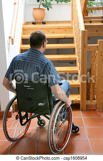 Man in a wheelchair - csp1608954
