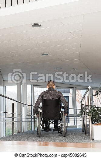 man in a wheelchair - csp45002645