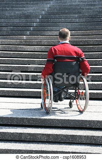 Man in a wheelchair - csp1608953