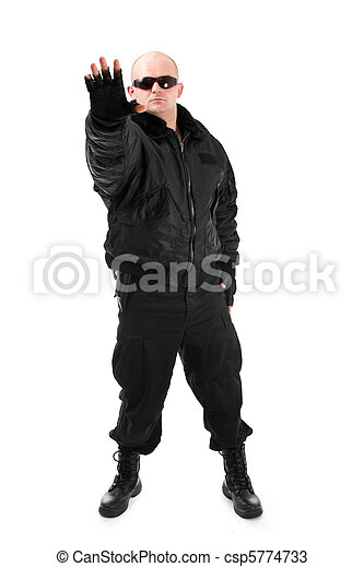 Man in black - csp5774733
