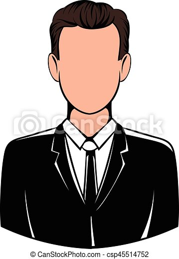 man in black suit icon icon cartoon man in black suit icon rh canstockphoto com cartoon fat man in suit cartoon man in white suit
