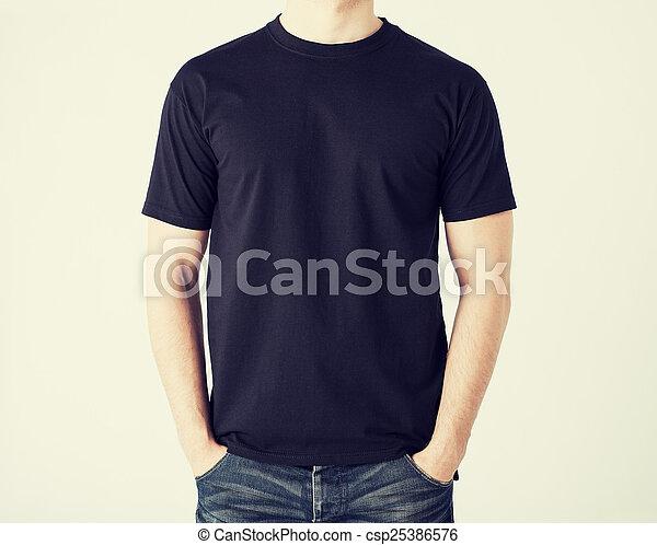 man in blank t-shirt - csp25386576