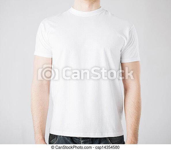 man in blank t-shirt - csp14354580