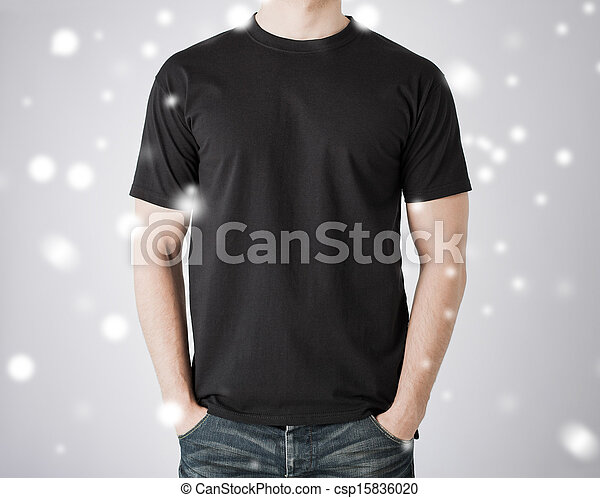 man in blank t-shirt - csp15836020