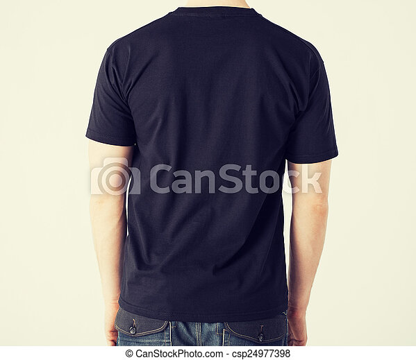 man in blank t-shirt - csp24977398