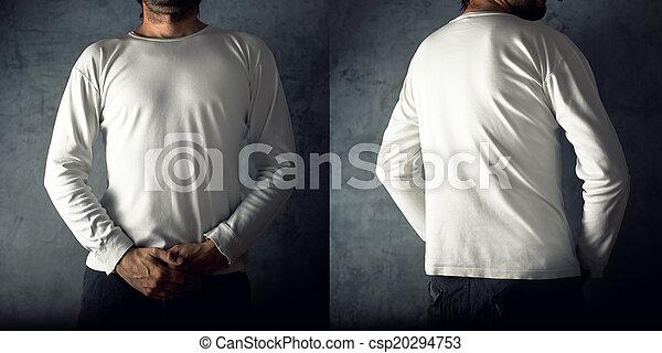 Man in blank white t-shirt - csp20294753