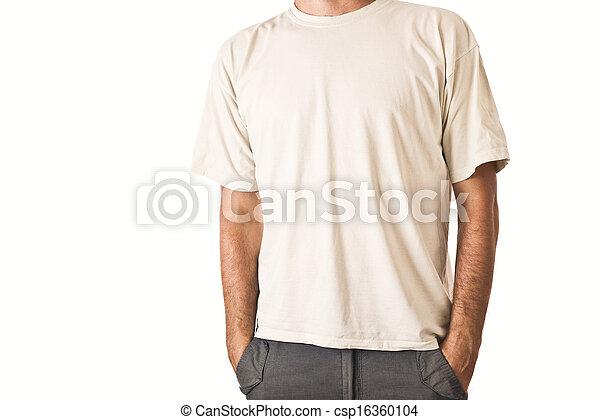 Man in blank white t-shirt - csp16360104