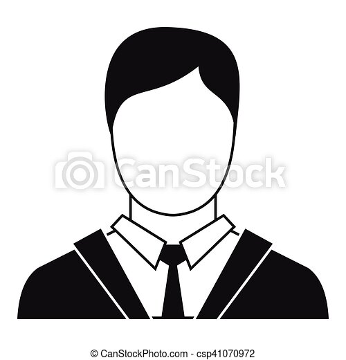 Man in business suit icon, simple style