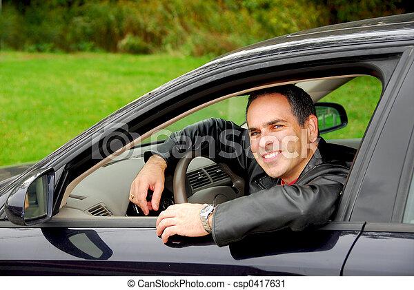 Man in car - csp0417631