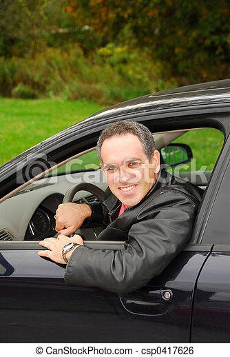 Man in car - csp0417626