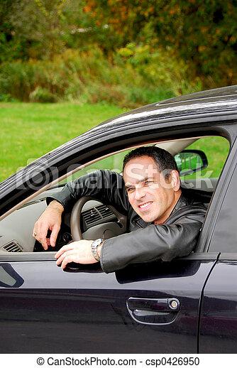 Man in car - csp0426950