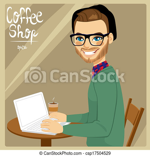 Man In Coffee Shop - csp17504529