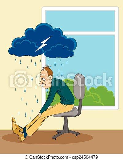 Man in depression - csp24504479