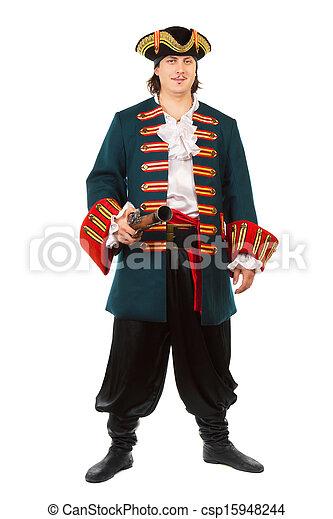Man in military uniform - csp15948244