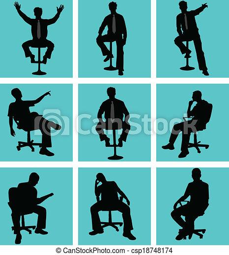 Man in position sitting - csp18748174