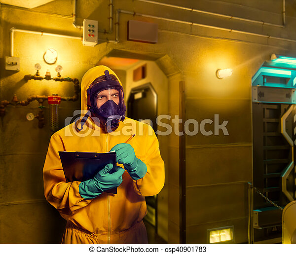Man in protective suit - csp40901783
