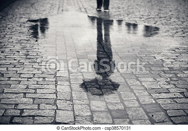 Man in rainy day - csp38570131