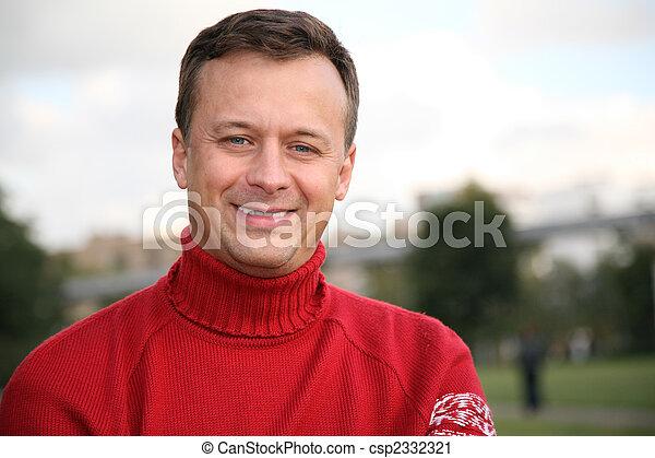 man in red jumper 2 - csp2332321