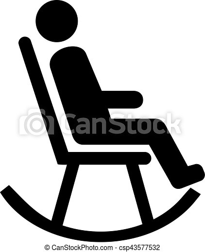 Old Man Sitting In Rocking Chair Vector Old Man Sitting In Rocking