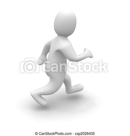Man in run - csp2026435