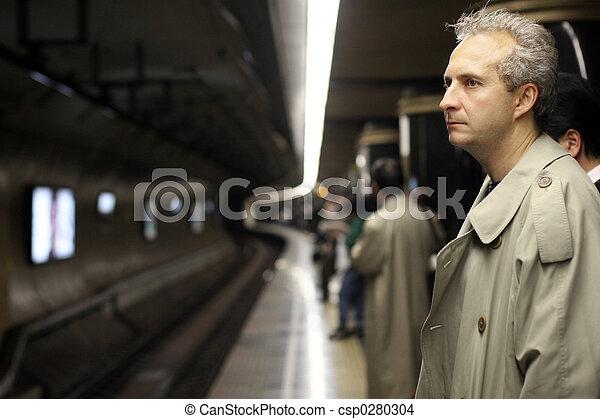 Man in subway - csp0280304