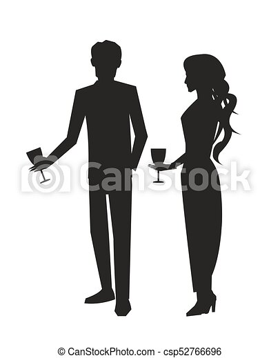 Man In Suit And Woman In Dress Vector Illustration Four Dancing