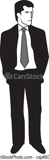 Man in suit - csp6631453