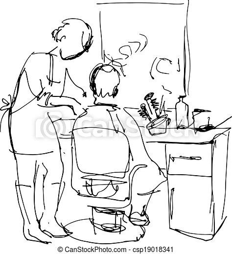 Man In The Barber Shop At Maste