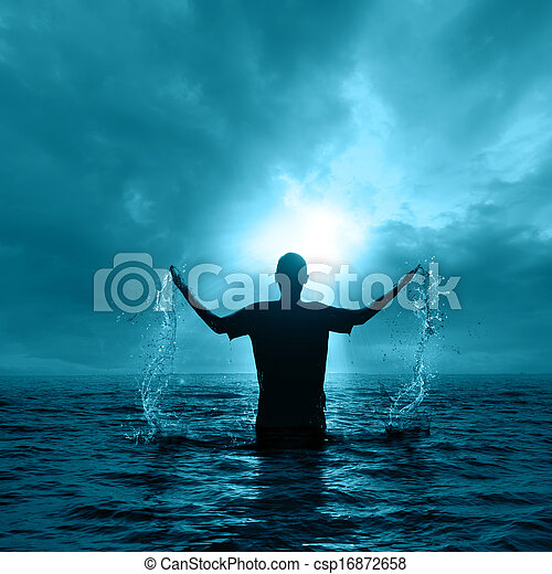 Man in water - csp16872658