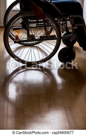 man in wheelchair - csp24600677