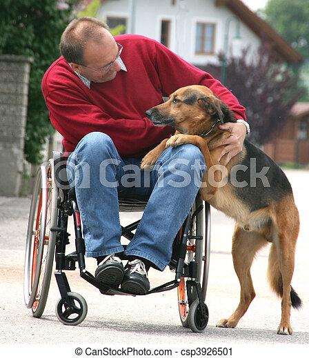 man in wheelchair - csp3926501