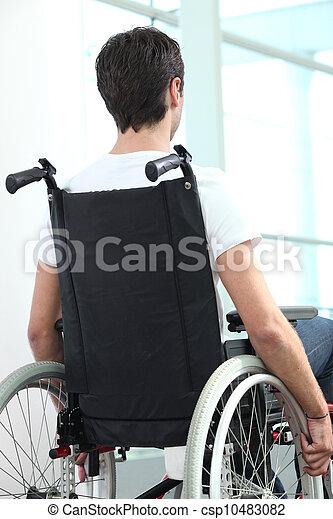 Man in wheelchair - csp10483082