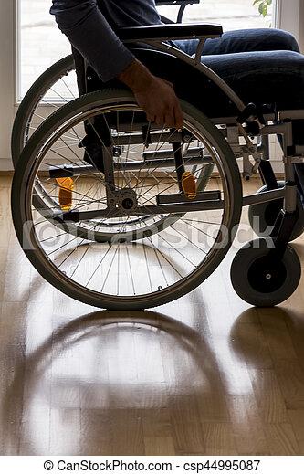 man in wheelchair - csp44995087