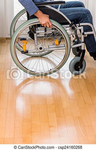 man in wheelchair - csp24160268