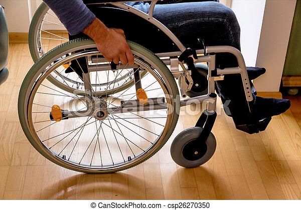man in wheelchair - csp26270350