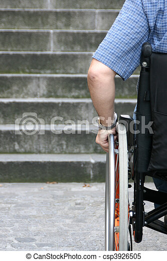 man in wheelchair - csp3926505