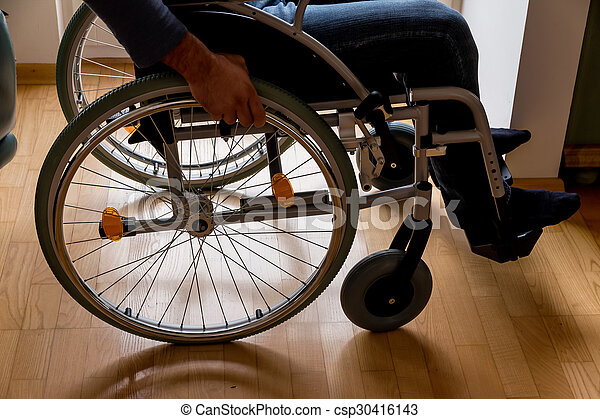 man in wheelchair - csp30416143