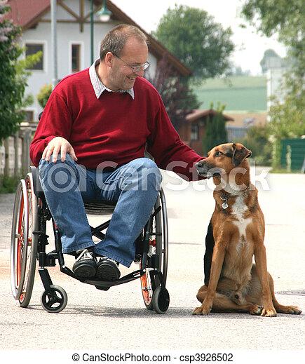 man in wheelchair - csp3926502