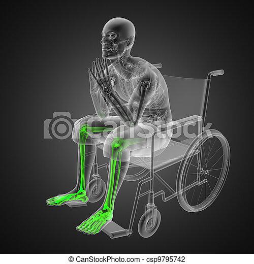 Man in wheelchair - csp9795742