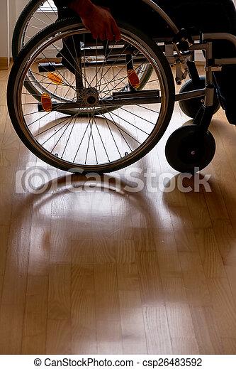 man in wheelchair - csp26483592