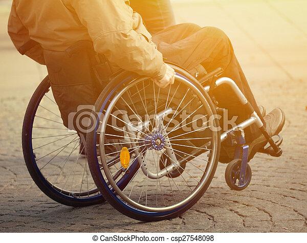 Man in wheelchair - csp27548098