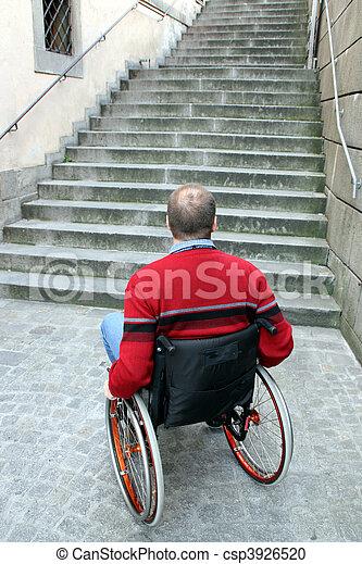 man in wheelchair - csp3926520