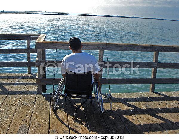 man in wheelchair  - csp0383013