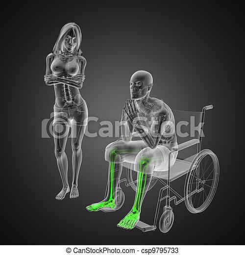 Man in wheelchair - csp9795733