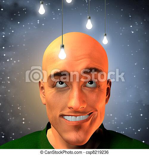Man invent with stars - csp8219236