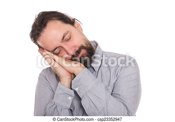 man is napping a short time - csp23352947