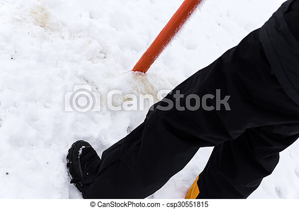 Man is peeing in the Snow - csp30551815