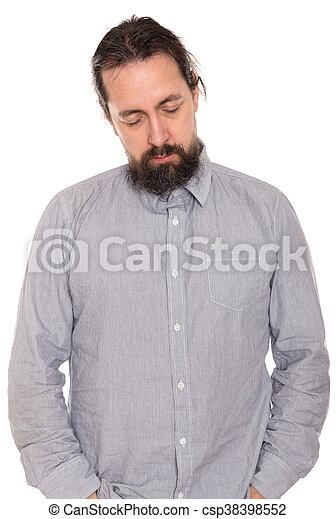 man is sleeping standing up - csp38398552