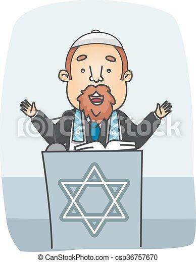 Good Man Jewish Rabbi Preach   Csp36757670
